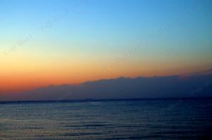 遠い記憶 館山からの夕景